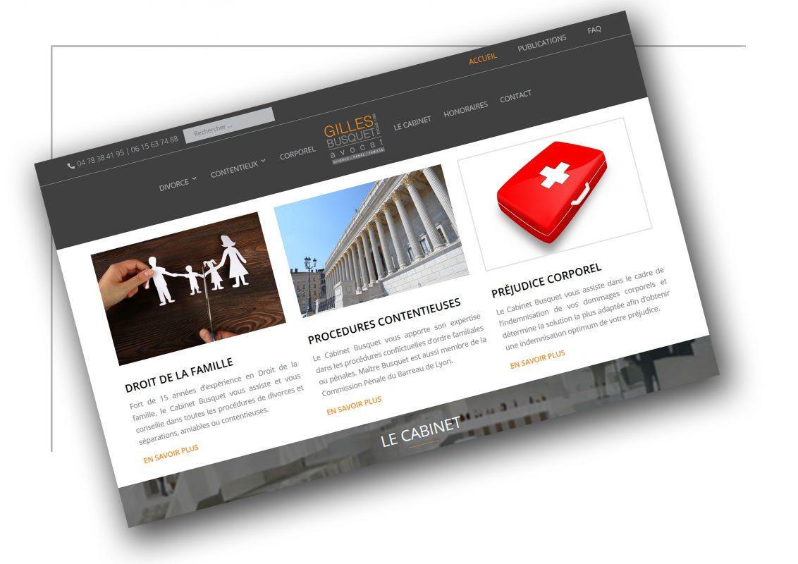 Réalisation de site internet Saint Etienne Gilles Busquet - XXL Factory