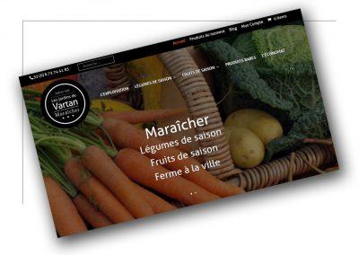 Création de site marchand Lyon Les jardins de Vartan - XXL Factory