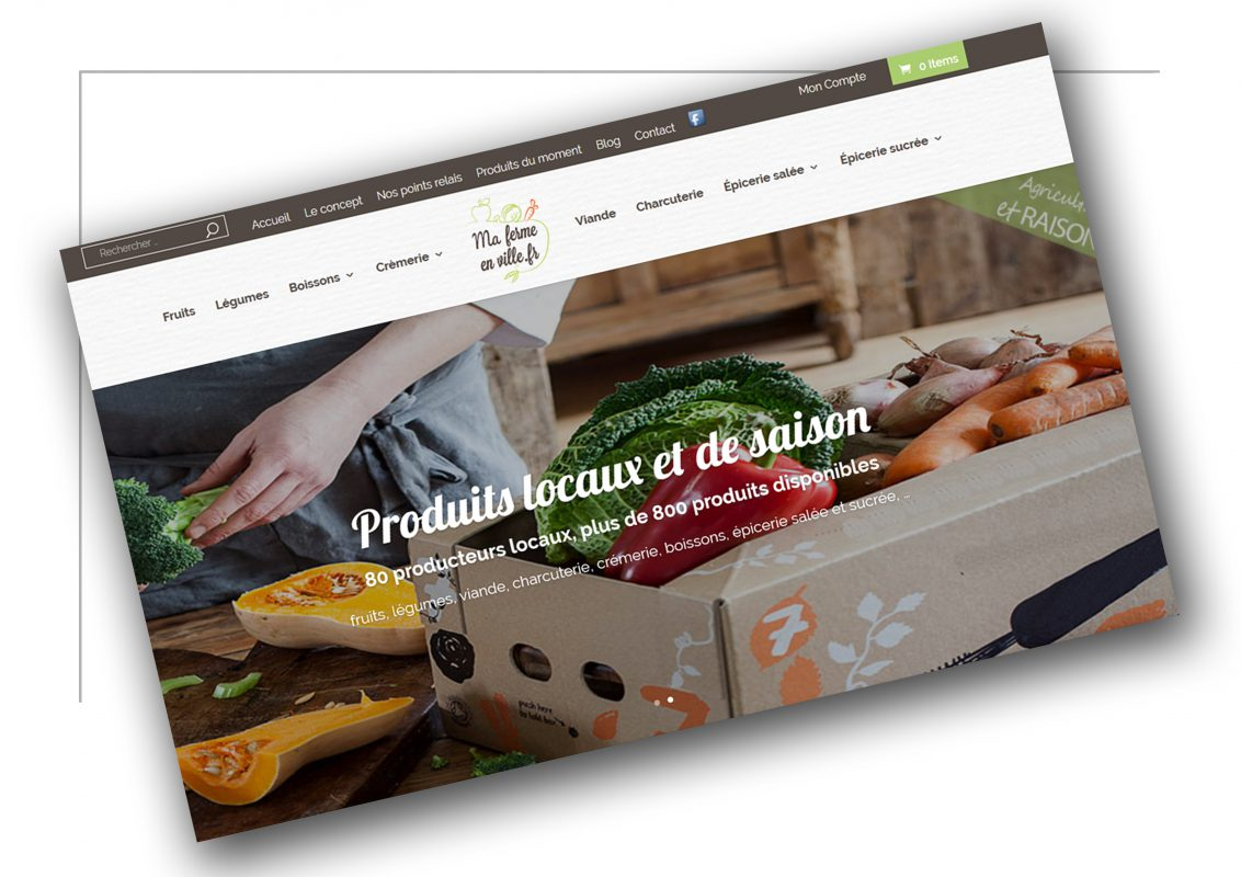 Production de site ecommerce Lyon Ma ferme en ville - XXL Factory