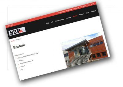 Développement de site vitrine Rhône alpes S2P metallerie - XXL Factory