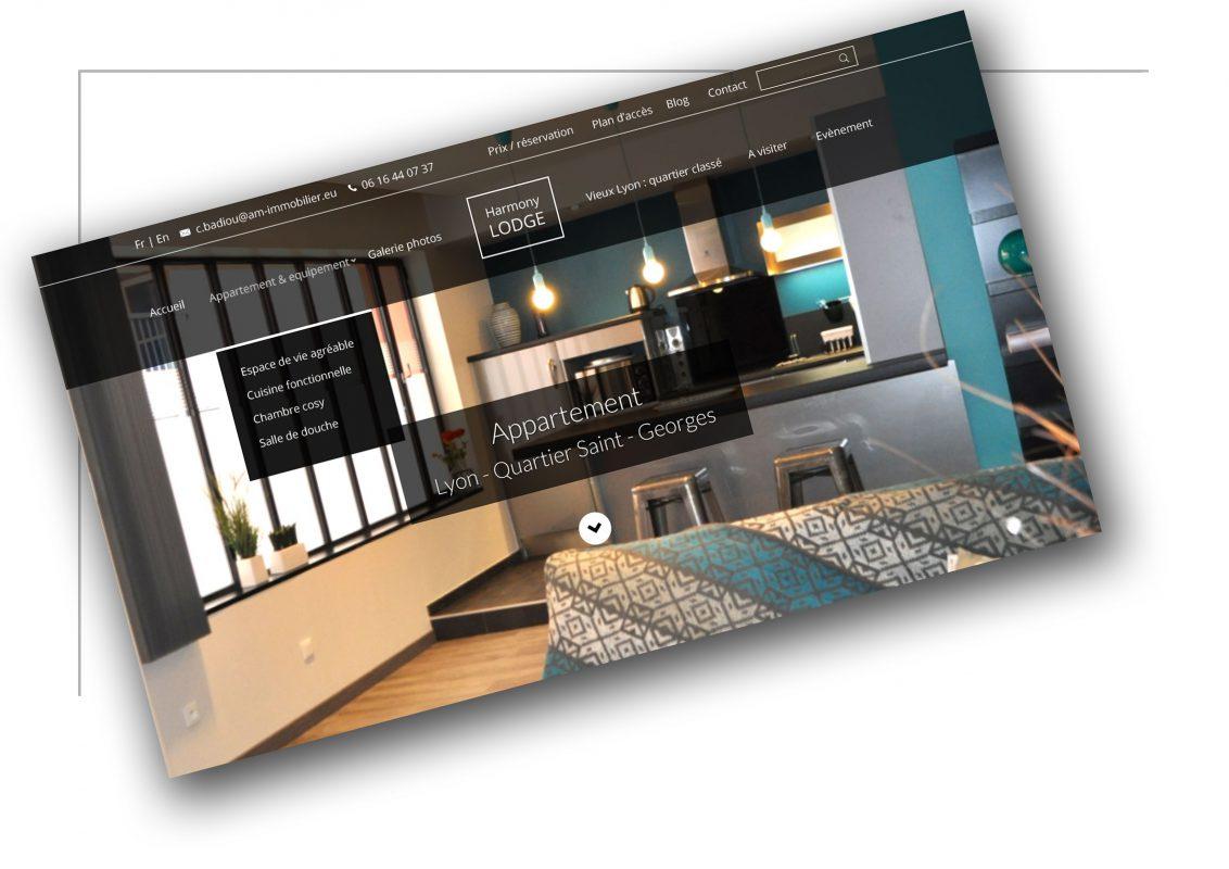 Production de site de vente Rhône Alpes - Harmony Lodge