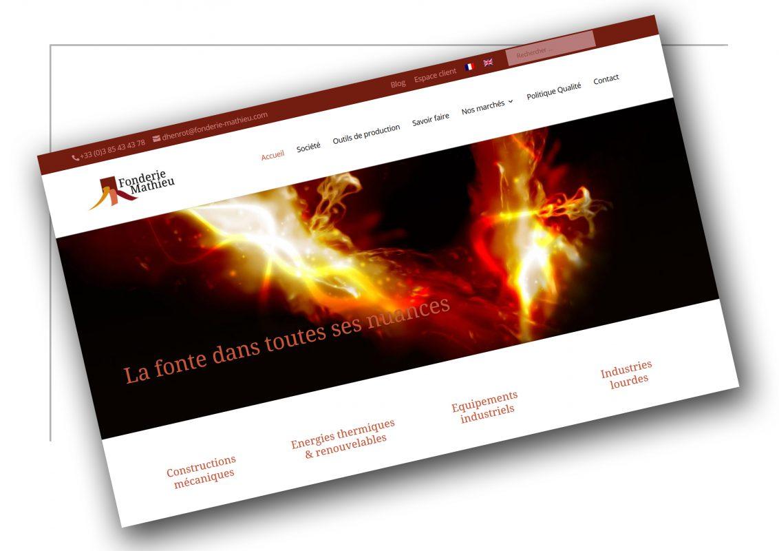 Conception de site vitrine Lyon -Fonderie Matthieu