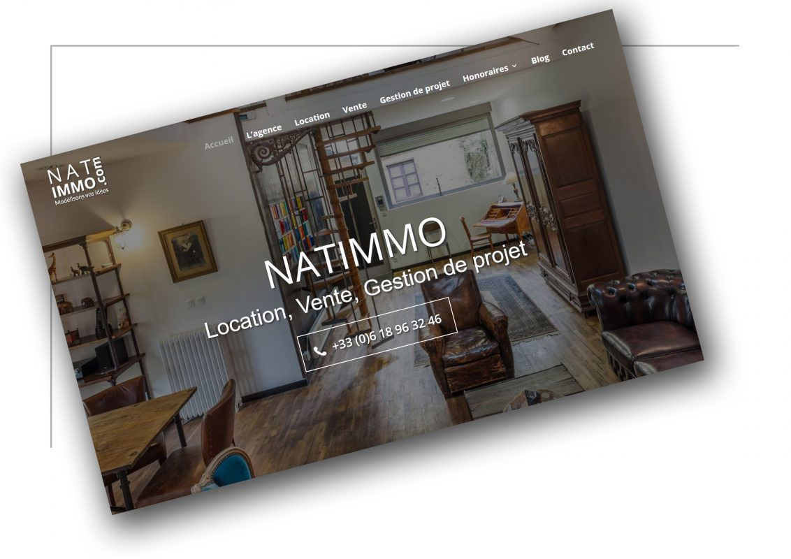 Conception de site internet Lyon - Natimmo