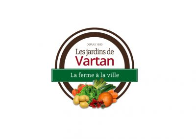 Création Logo Bourgogne - Les Jardins de Vartan