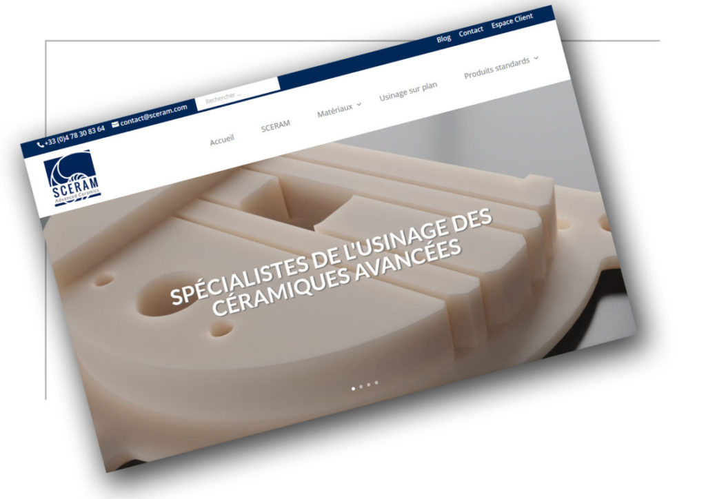 Création de site vitrine Grenoble Sceram - XXL Factory