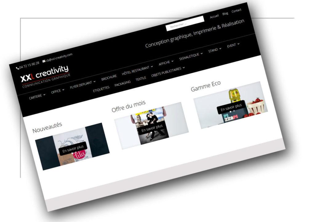 Création de site marchand Rhône Alpes XXL Creativity - XXL Factory