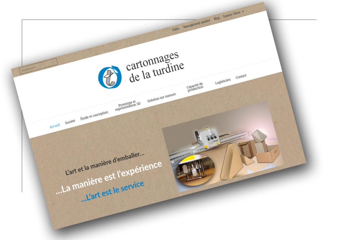 Développement de site web Grenoble Cartonnage de la turdine - XXL Factory