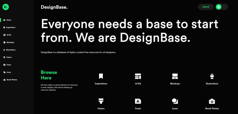 DesignBase, une mine d'or pour les designers