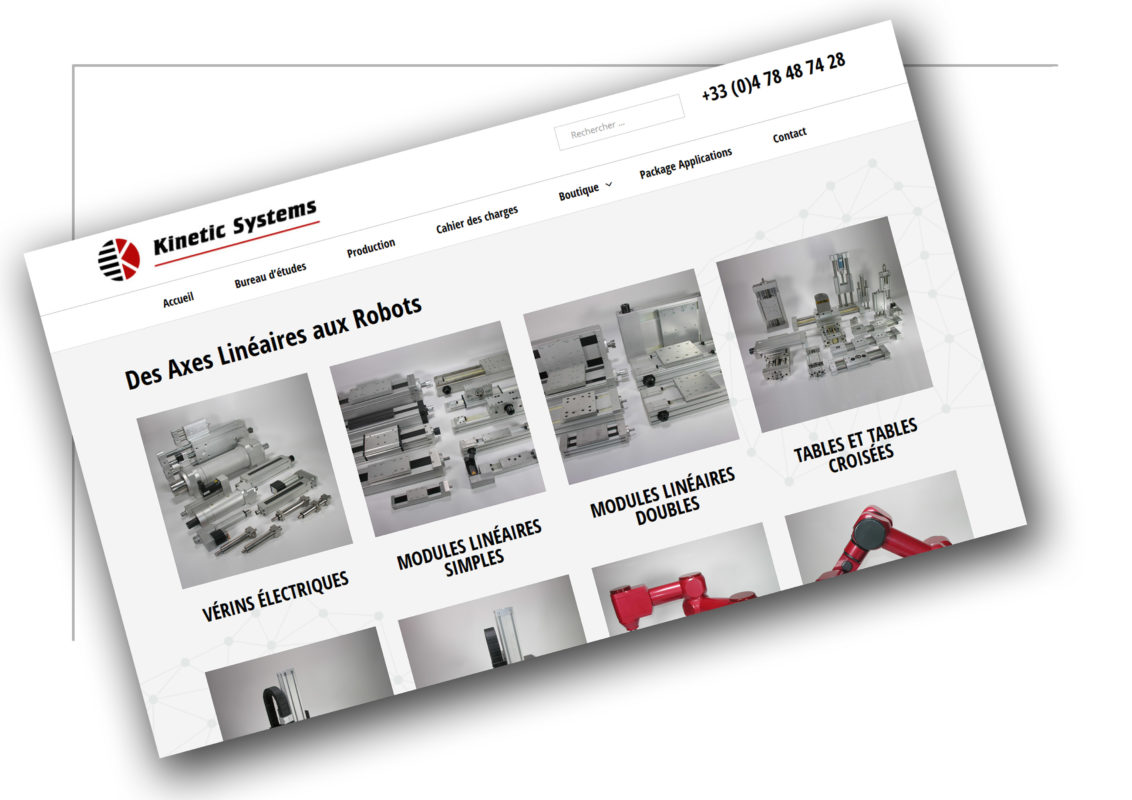 Développement de site e-commerce Rhône Alpes Kinetic - XXL Factory
